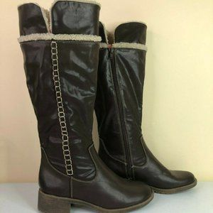 Natural Soul Terrain Faux Leather Knee High Boots